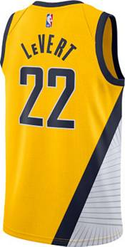 Nike Men's Indiana Pacers Caris LeVert #22 Yellow Dri-FIT Statement Jersey product image