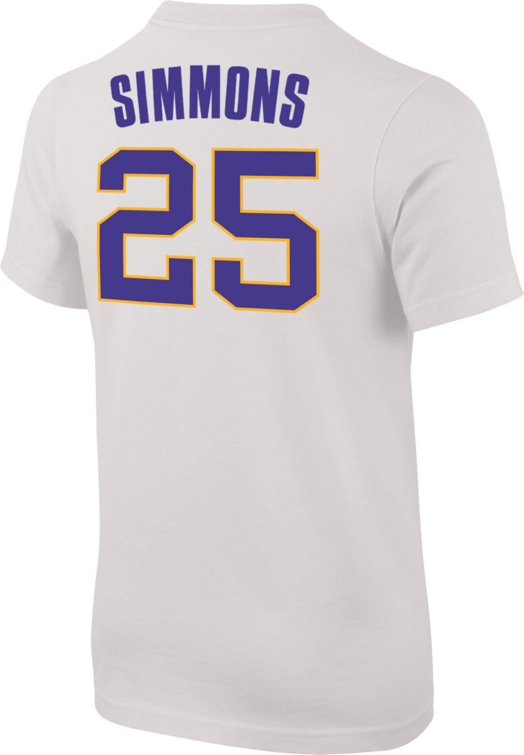 df575d5a0366 Nike Youth LSU Tigers Ben Simmons  25 Future Star Replica Basketball Jersey  White T-
