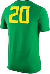 Nike Men's Oregon Ducks #20 Green Basketball Jersey T-Shirt product image