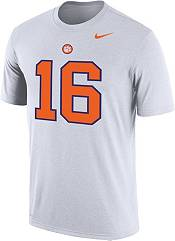 Nike Men's Clemson Tigers #16 Football Jersey White T-Shirt product image