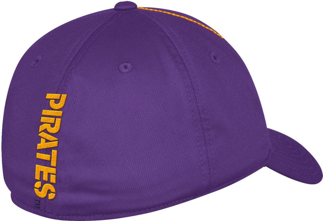 0e059f4bd adidas Men's East Carolina Pirates Purple Sideline Coaches Structured Flex  Hat