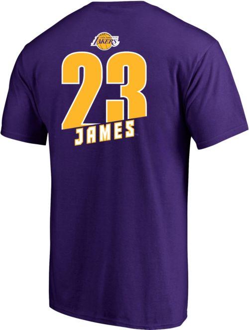 a7852ea38 Majestic Men s Los Angeles Lakers LeBron James  23 Purple T-Shirt ...