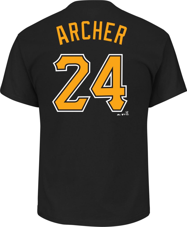 new products b405b a0f59 Majestic Men's Pittsburgh Pirates Chris Archer #24 Black T-Shirt