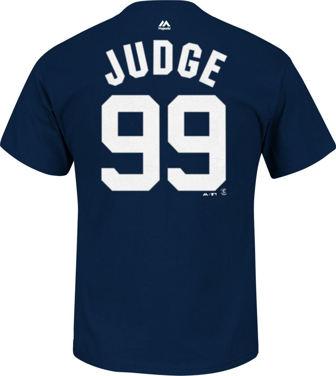 036b4fe98 Majestic Men's New York Yankees Aaron Judge #99 Navy T-Shirt ...
