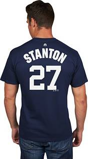 Majestic Men's New York Yankees Giancarlo Stanton #27 Navy T-Shirt product image