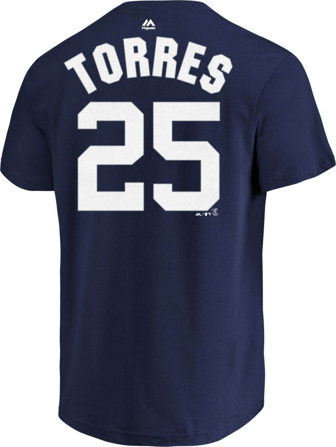 uk availability 4a139 1cf46 Majestic Men's New York Yankees Gleyber Torres #25 Navy T-Shirt