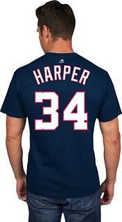Majestic Men's Washington Nationals Bryce Harper #34 Navy T-Shirt product image