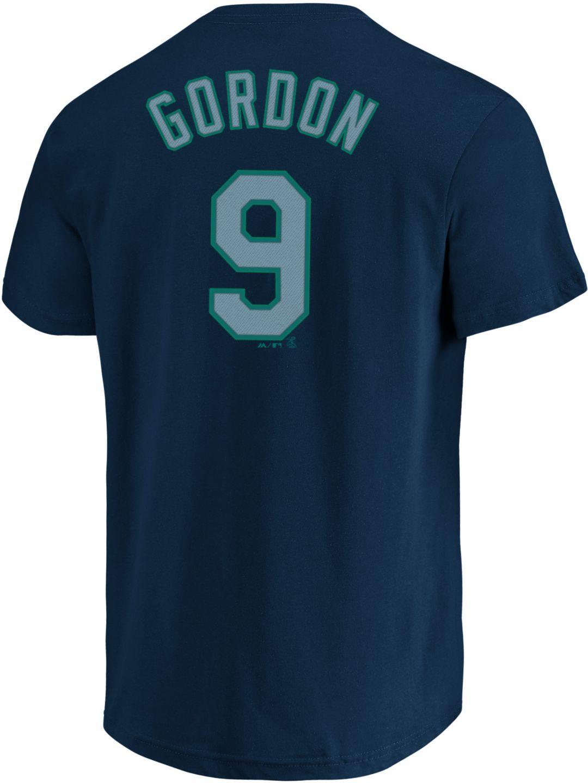 online store 8237c dde01 Majestic Men's Seattle Mariners Dee Gordon #9 Navy T-Shirt