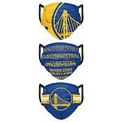 FOCO Adult Golden State Warriors 3-Pack Face Coverings product image