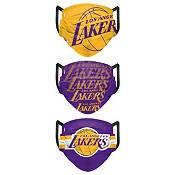 FOCO Adult Los Angeles Lakers 3-Pack Matchday Face Coverings product image