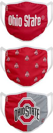 FOCO Youth Ohio State Buckeyes 3-Pack Face Masks product image