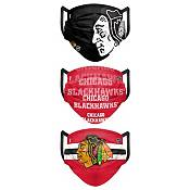 FOCO Adult Chicago Blackhawks 3-Pack Matchday Face Coverings product image
