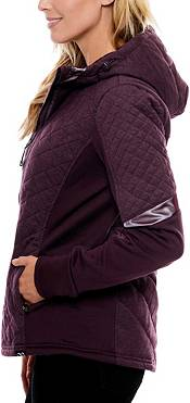 Be Boundless Quilted Melange Knit Hooded Jacket product image