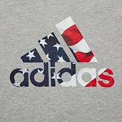 adidas Men's Triple Stripe Graphic ¾ Sleeve Baseball Shirt product image