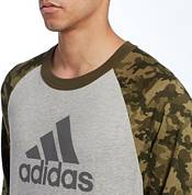 adidas Men's Triple Stripe Printed ¾ Sleeve Baseball Shirt product image