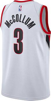 Nike Men's Portland Trailblazers CJ McCollum White Association Jersey product image