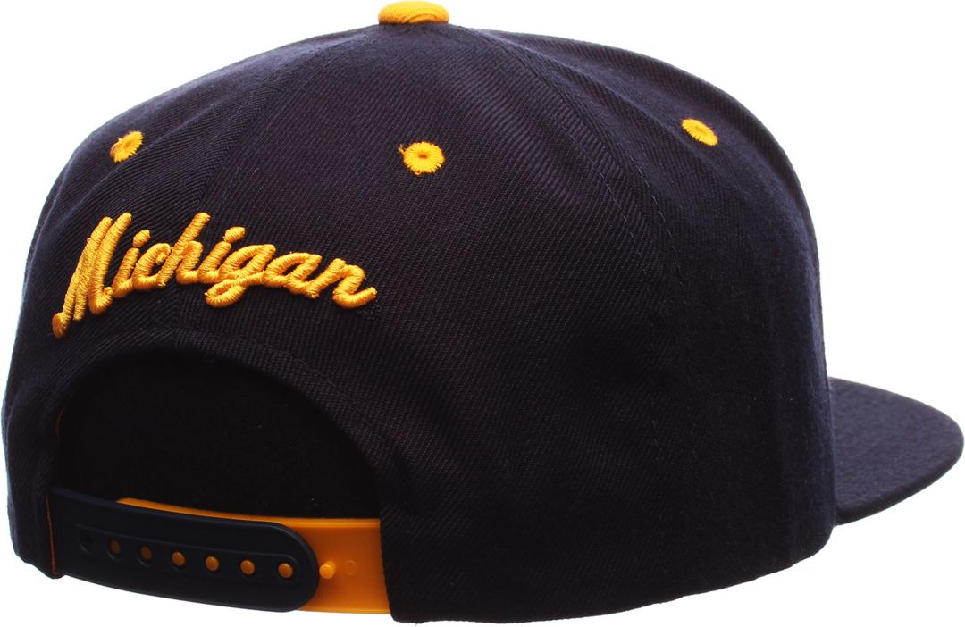 on sale 3b146 f3c3f Zephyr Men s Michigan Wolverines Blue Z11 Snapback Hat 2