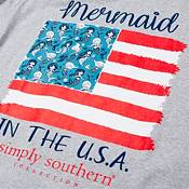 Simply Southern Women's Short Sleeve Mermaids USA T-Shirt product image