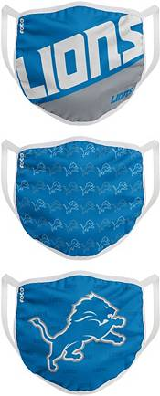 FOCO Youth Detroit Lions 3-Pack Face Masks product image