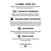 Varo ARC MLB 12 oz. Bat Training Weight product image