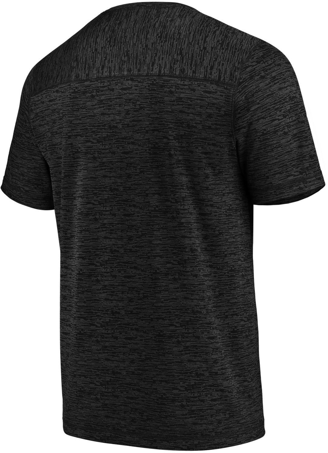 half off 144bf 9ad52 Majestic Men's San Jose Sharks Ultra Streak Black Heathered T-Shirt