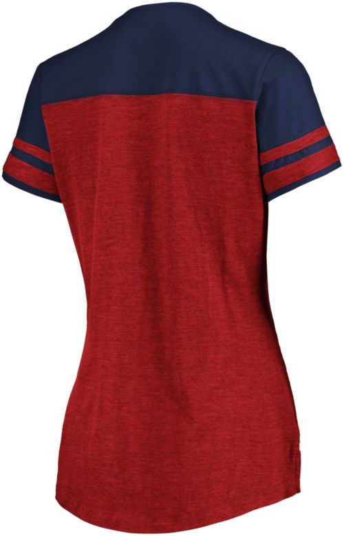 Majestic Women s Washington Capitals Hyper Red V-Neck T-Shirt.  noImageFound. Previous bfc7b069f