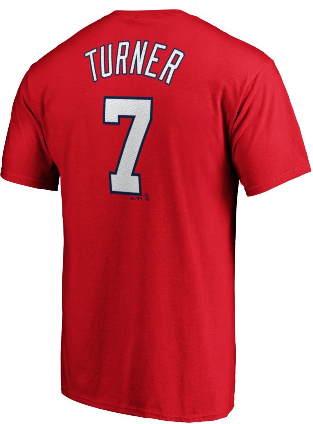 buy popular 925c3 90977 Majestic Men's Washington Nationals Trea Turner #7 Red T-Shirt