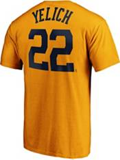 Majestic Men's Milwaukee Brewers Gold Christian Yelich #22 T-Shirt product image