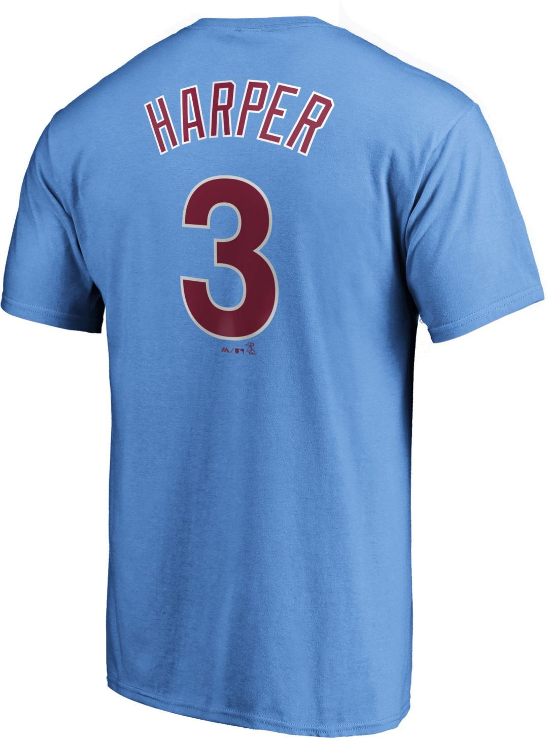 super popular ded37 e03df Majestic Men's Philadelphia Phillies Bryce Harper #3 Light Blue T-Shirt