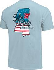 Image One Men's Ole Miss Rebels Blue Americana State T-Shirt product image