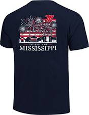 Image One Men's Ole Miss Rebels Navy Americana Fireworks T-Shirt product image