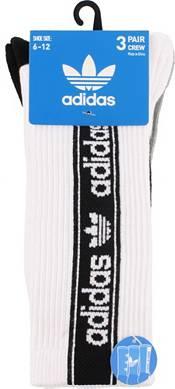 adidas Men's Originals Triple Branded Crew Socks 3 Pack product image
