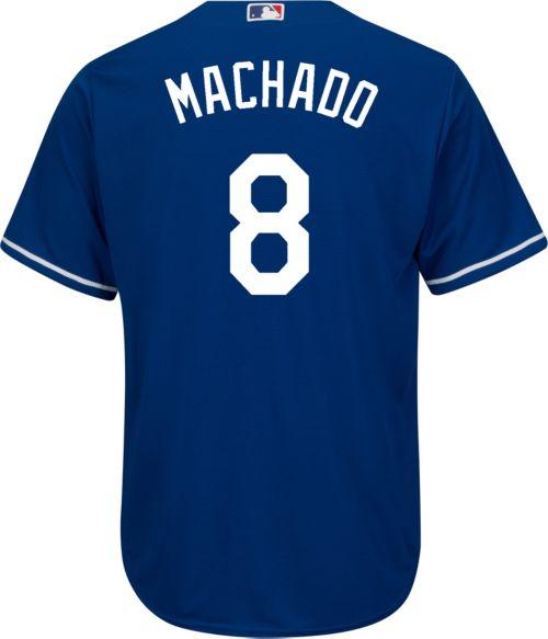 Youth Replica Los Angeles Dodgers Manny Machado  8 Alternate Royal ... e7a415ab722