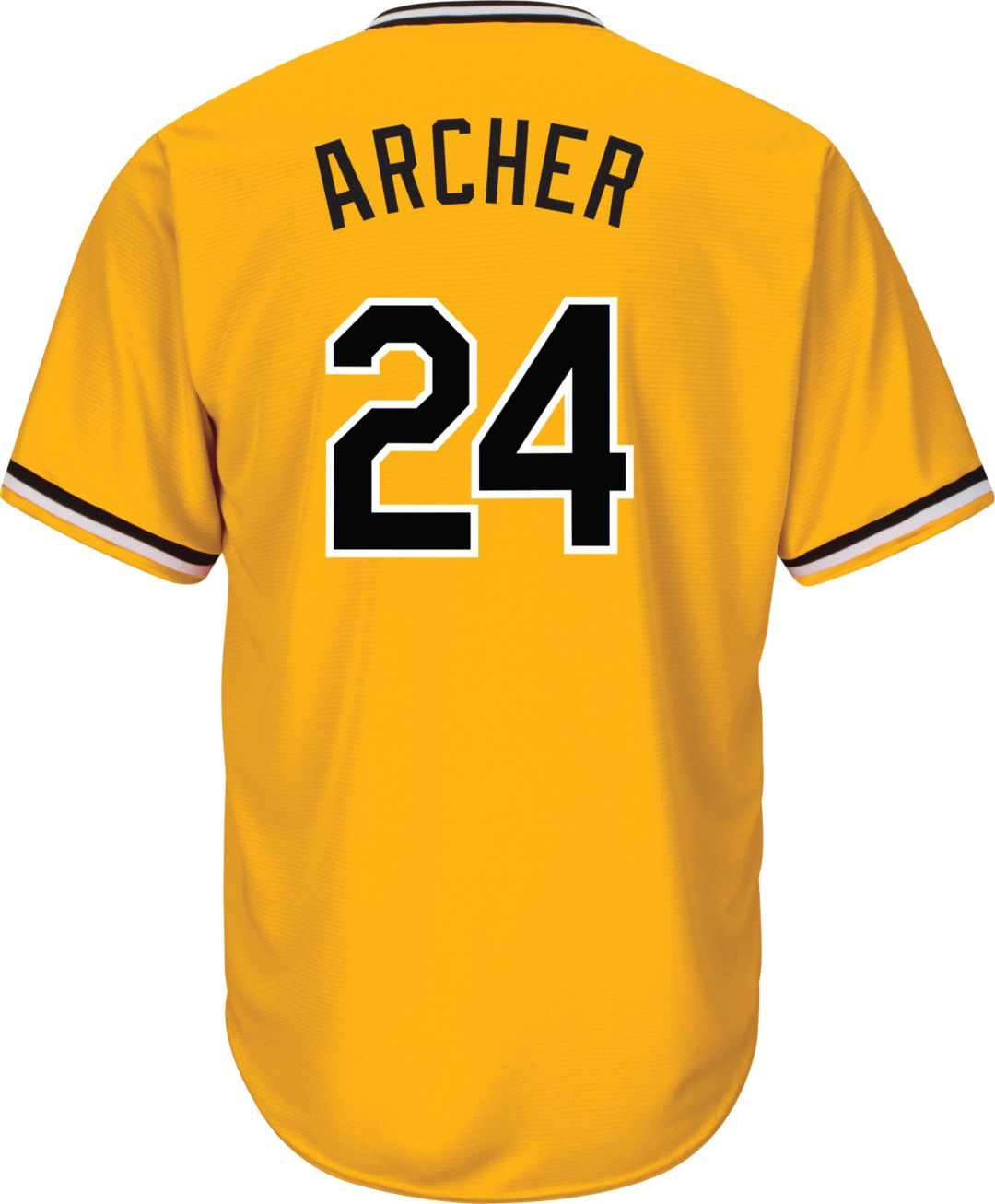best loved c0aca f8851 Majestic Youth Replica Pittsburgh Pirates Chris Archer #24 Cool Base  Alternate Gold Jersey