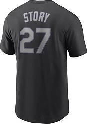 Nike Men's Colorado Rockies Trevor Story #27 Black T-Shirt product image