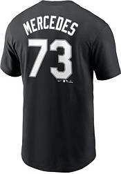 Nike Men's Chicago White Sox Yermin Mercedes #73 Black T-Shirt product image