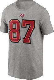 Nike Men's Tampa Bay Buccaneers Rob Gronkowski #87 Grey Logo T-Shirt product image