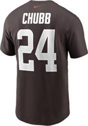 Nike Men's Cleveland Browns Nick Chubb #24 Seal Brown T-Shirt product image