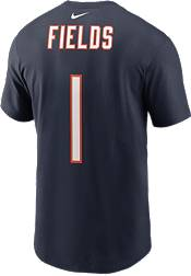 Nike Adult Chicago Bears Justin Fields #1 Navy Short-Sleeve T-Shirt product image
