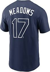 Nike Men's Tampa Bay Rays Austin Meadows #17 Navy T-Shirt product image