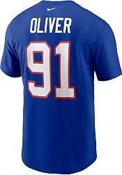 Nike Men's Buffalo Bills Ed Oliver #91 Old Royal T-Shirt