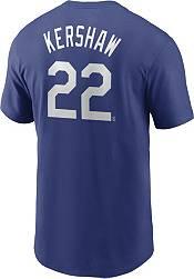Nike Men's Los Angeles Dodgers Clayton Kershaw #22 Blue T-Shirt product image