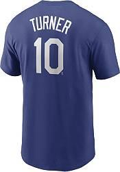 Nike Men's Los Angeles Dodgers Justin Turner #10 Blue T-Shirt product image
