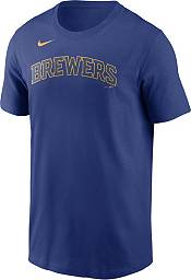 Nike Men's Milwaukee Brewers Christian Yelich #22 Blue T-Shirt product image