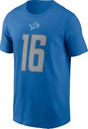 Nike Men's Detroit Lions Jared Goff #16 Blue T-Shirt product image
