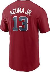Nike Men's Atlanta Braves Ronald Acuna Jr. #13 Red T-Shirt product image