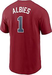 Nike Men's Atlanta Braves Ozzie Albies #1 Red T-Shirt product image