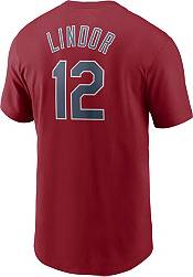 Nike Men's Cleveland Indians Francisco Lindor #12 Red T-Shirt product image