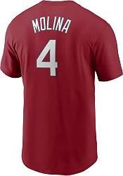 Nike Men's St. Louis Cardinals Yadier Molina #4 Red T-Shirt product image