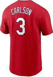 Nike Men's St. Louis Cardinals Dylan Carlson #3 Red T-Shirt product image